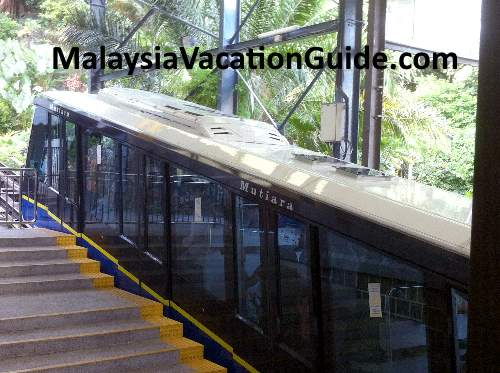 Penang Hill funicular train.