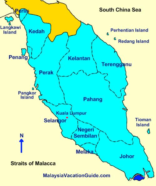 Malaysia Map