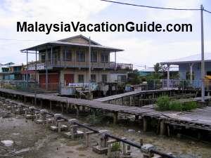 Pulau Ketam Houses On Stilts
