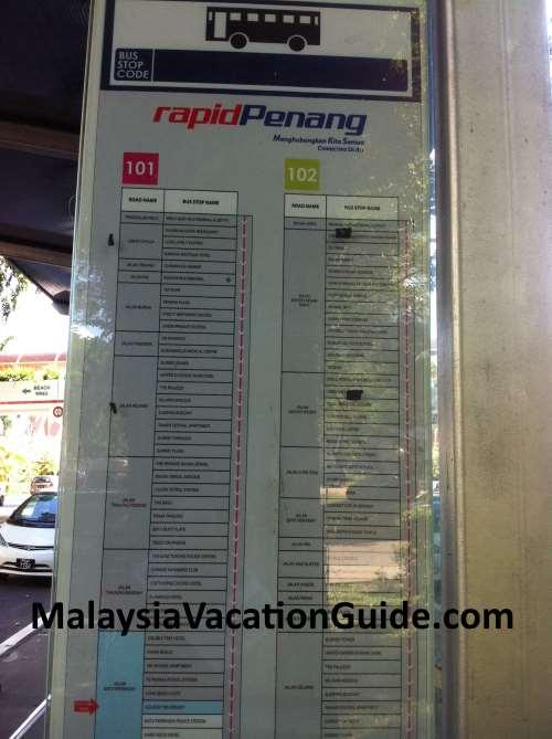 Rapid Penang Bus Stop