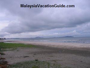 View of the beach from Pak Su Restaurant
