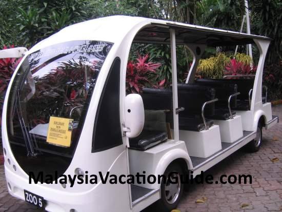 Tram to transport visitors at Zoo Negara