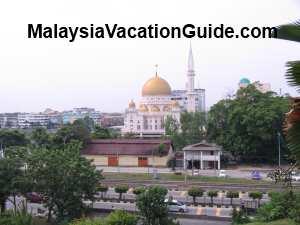 View of Klang town from Kota Mahadi