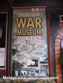 Penang War Museum Banner