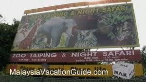 Taiping Zoo Signage